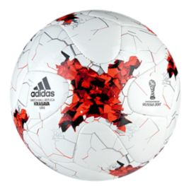 adidas Confederations Cup Mini Soccer Ball - White/Red