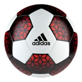 adidas Ace Glider Soccer Ball Size 5 White/Red
