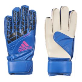 adidas Ace Fingersave Junior Goalie Gloves - Blue/Core Black
