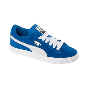 PUMA Kids  Suede Grade School Casual Shoes - Blue White 4d095ca55