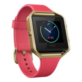 Fitbit Blaze Fitness Tracker - Pink/Gold Slim Band Large