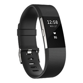 Fitbit Charge 2 Fitness Tracker - Black Small