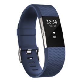 Fitbit Charge 2 Fitness Tracker - Navy Small