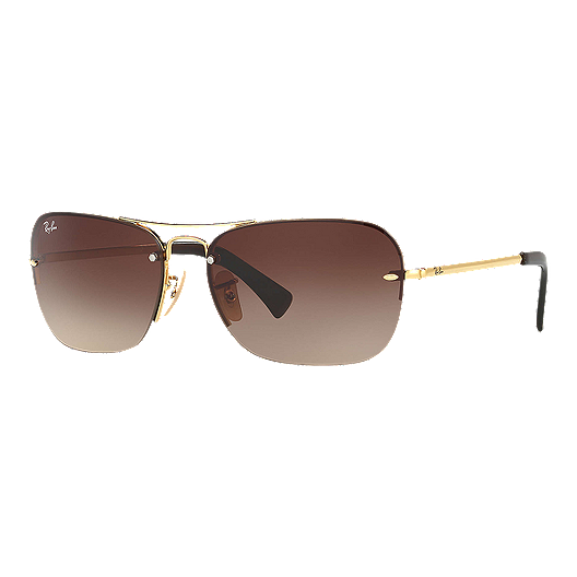 52fb22e2be3e Ray-Ban 0RB3541 Sunglasses- Gold with Brown Gradient Lenses