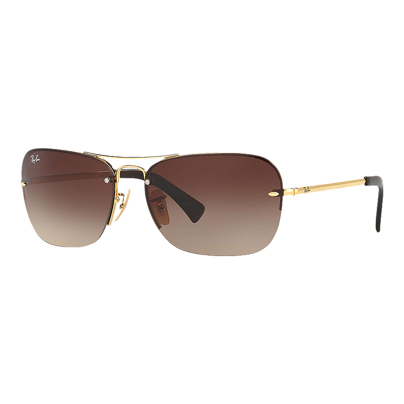 1365f79b893 Ray-Ban 0RB3541 Sunglasses- Gold with Brown Gradient Lenses