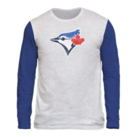 Toronto Blue Jays Triblend Two Tone Long Sleeve Tee