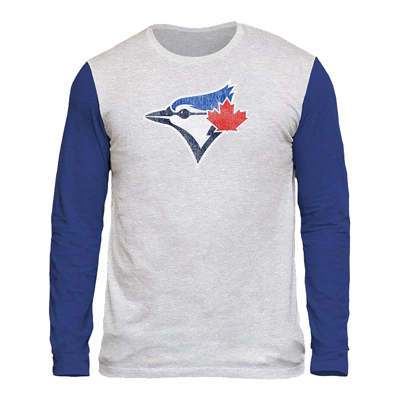 57597f4d Toronto Blue Jays Triblend Two Tone Long Sleeve Tee | Sport Chek
