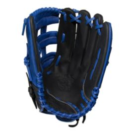 "Rawlings Bull Series 13"" Softball Glove - Black/Blue"