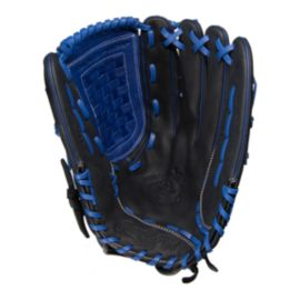 "Rawlings Bull Series 14"" Softball Glove Black/Blue"