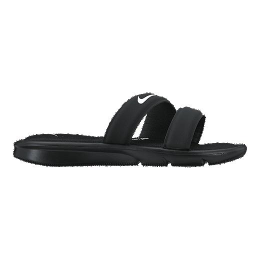 Womens Nike Ultra Comfort Slide Sandal WhiteBlack