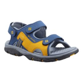 Columbia Kids' Castlerock Supreme Preschool Sandals - Blue/Yellow