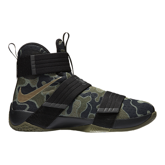 1fbf0d70961c Nike LeBron Soldier 10 SFG Camo Men s Basketball Shoes