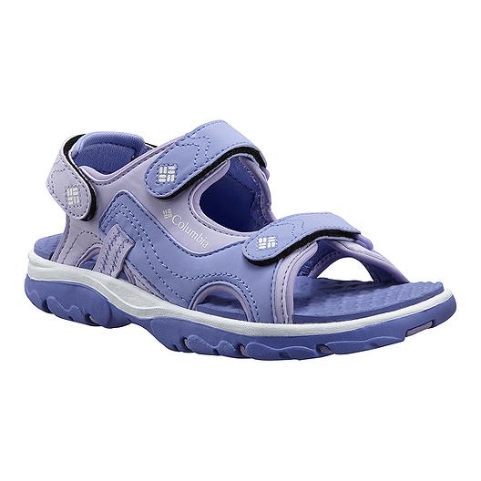 Chek Columbia Supreme Sandals Girls' Castlerock VioletwhiteSport qVSUzMpLG