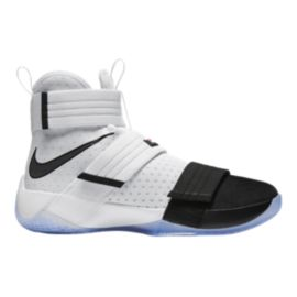 Nike Men's LeBron Soldier 10 Basketball Shoes - White/Black
