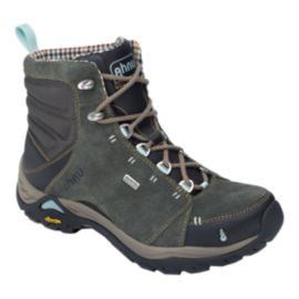 Ahnu Women's Montara Waterproof Hiking Boots - Dark Green/Grey