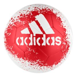 adidas X Glider Size 4 Soccer Ball - White/Red