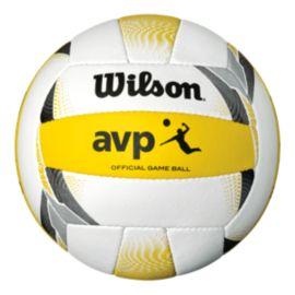 Wilson AVP II Official Beach Volleyball Game Ball - White/Yellow