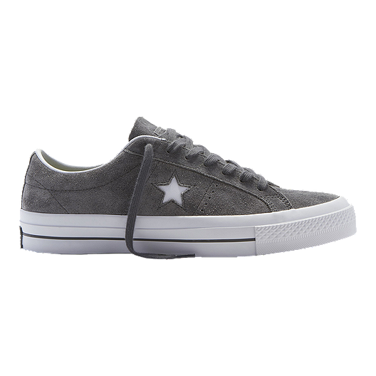 afb6ec935e2a Converse Men s One Star Suede Ox Skate Shoes - Thunder White