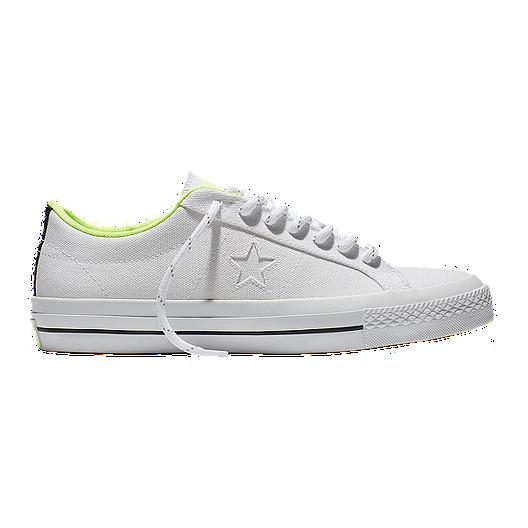 2de64dfb1e3a Converse Men s One Star Shield Canvas Ox Skate Shoes - White Volt ...