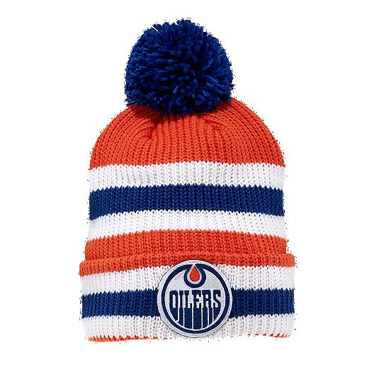 the best attitude 96f18 32adb Edmonton Oilers Heritage Classic Cuffed Pom Knit Beanie   Sport Chek