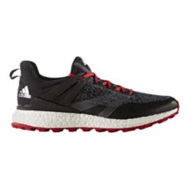 adidas Golf Men's CrossKnit Boost Golf Shoes - Black/White/Red