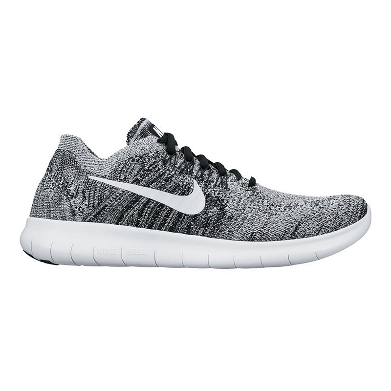 315532b2efe8 Nike Women s Free RN FlyKnit 2017 Running Shoes - Black White Pattern