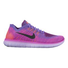Nike Womens Free RN FlyKnit 2017 Running Shoes - PinkPurpleOrange