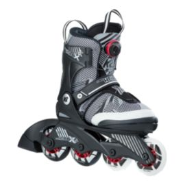 K2 SK8 Hero X BOA Junior Adjustable Inline Skates - Black/White