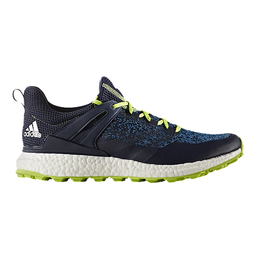 baf6971e4373 adidas Golf Men s CrossKnit Boost Golf Shoes - Navy Solar Green ...