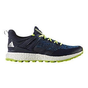 Adidas Golf Men's CrossKnit Boost Golf Shoes - Navy/Solar Green