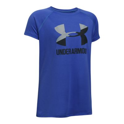 Under Armour Girls' Solid Big Logo T Shirt