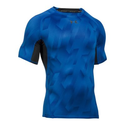 Under Armour Men's Armour Printed Compression Short Sleeve Shirt