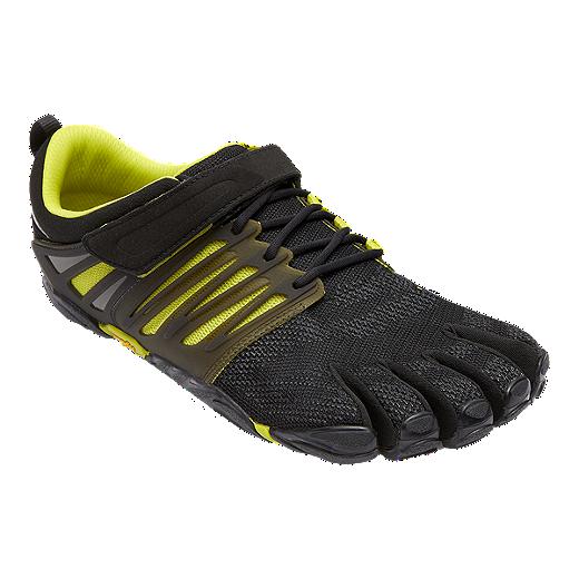 Vibram Fivefingers V-TRAIN - Sports shoes - black/green W1Dv7Rix