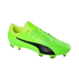 PUMA Men's EvoPower Vigor 3 FG Leather Outdoor Soccer Cleats - Green/Black