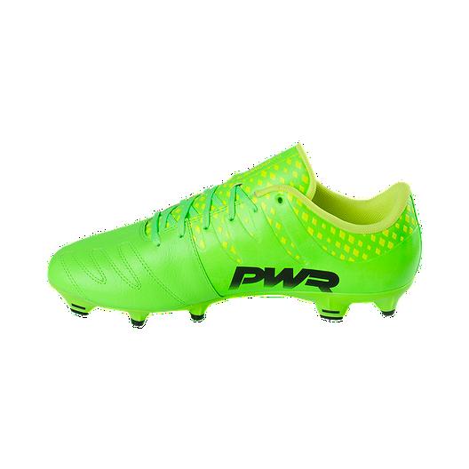 de63266f6 PUMA Men s EvoPower Vigor 3 FG Leather Outdoor Soccer Cleats - Green Black.  (0). View Description
