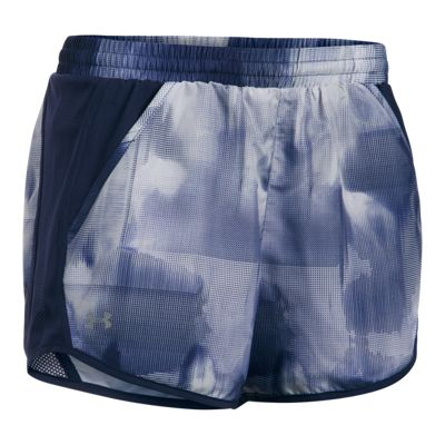 Under Armour Women's Run Fly By All Over Print Shorts