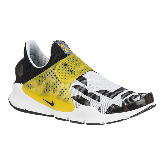 571c986b8 Nike Men's Sock Dart GPX N7 Shoes - White/Black Pattern/Yellow | Sport Chek