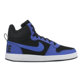 Nike Men's Court Borough Mid Shoes - Black/Blue/White