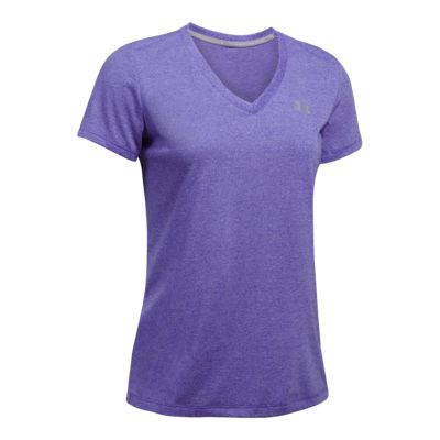 Under Armour Women's Tech Threadborne Twist V-Neck Short Sleeve Shirt