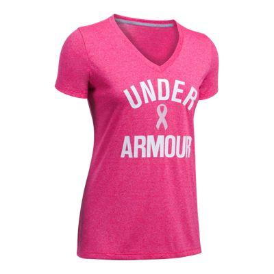 Under Armour Women's Power In Pink® Tech Threadborne Twist Short Sleeve Shirt