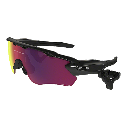 94b3f15825 Oakley Radar Pace Sunglasses- Polished Black with Prizm Road Lenses | Sport  Chek