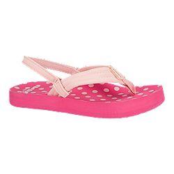 2077bfcab4cb64 image of Reef Girls  Little Ahi Preschool Sandals - Pink Polka Dot with sku