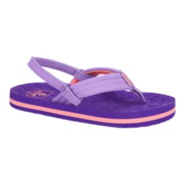 Reef Girls' Little Ahi Preschool Sandals - Purple Hearts