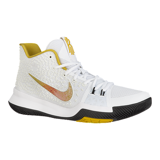 new product 7dbe0 64d73 Nike Men's Kyrie 3 N7 Basketball Shoes - White/Yellow/Black ...