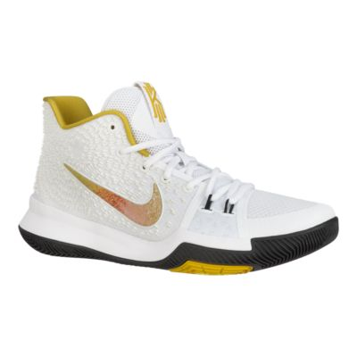 Nike Men\u0027s Kyrie 3 N7 Basketball Shoes - White/Yellow/Black | Sport Chek
