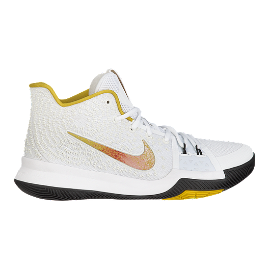 newest 07d76 ed5ac Nike Men s Kyrie 3 N7 Basketball Shoes - White Yellow Black