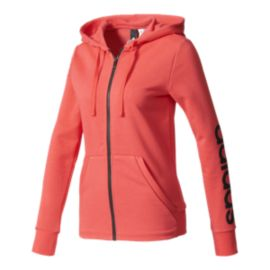 adidas Women's Essential Linear Full Zip Hoodie