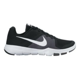 Nike Men's Flex Train Control 4E Extra Wide Width Training Shoes - Black/White