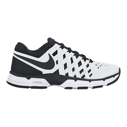 bb028b4739ba Nike Men s Lunar Fingertrap TR 4E Wide Width Training Shoes - White Black