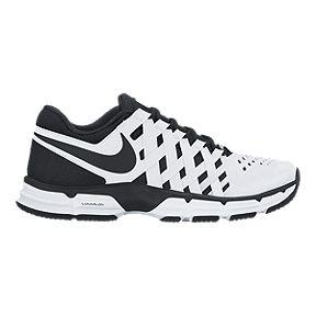 Nike Men's Lunar Fingertrap TR 4E Wide Width Training Shoes - White/Black